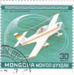 Stamps Asia - Mongolia -  AVIÓN DEPORTIVO