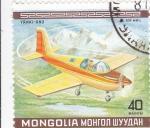 Stamps Asia - Mongolia -  AVION DE RECREO