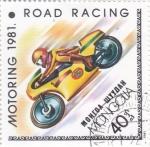 Stamps : Asia : Mongolia :  MOTORING-81  CARRERA DE VELOCIDAD