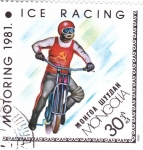 Sellos del Mundo : Asia : Mongolia : MOTORING-81 CARRERA SOBRE HIELO