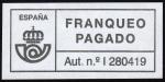 Stamps Spain -  COL-FRANQUEO PAGADO - AUT. Nº I 280419
