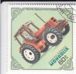 Stamps Asia - Mongolia -  TRACTOR- RENAULT