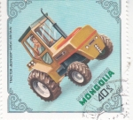 Stamps Asia - Mongolia -  TRACTOR- BONSER