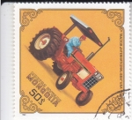 Stamps Asia - Mongolia -  TRACTOR- INTERNATIONL