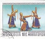 sello : Asia : Mongolia : DANZA