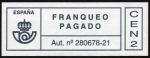 Stamps Spain -  COL-FRANQUEO PAGADO - AUT. Nº 280678-21