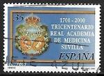 Stamps : Europe : Spain :  Tricentenario Real Academia de Medicina Sevilla