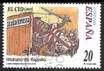Stamps : Europe : Spain :  Hitoria de España - El Cid