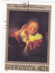 Stamps Asia - Mongolia -  PINTURA- MUJER JOVEN CON PENDIENTES