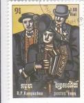 Stamps Asia - Cambodia -  MÚSICOS