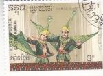 Stamps : Asia : Cambodia :  CULTURA KHMERE- DANZA KANTERE