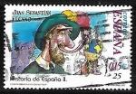 sellos de Europa - España -  Historia de España - Juan Sebastian El Cano