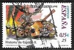 Sellos de Europa - España -  Historia de España - Hernán Cortes