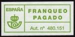 Stamps Spain -  COL-FRANQUEO PAGADO - AUT. Nº 480.151