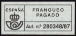 Stamps Spain -  COL-FRANQUEO PAGADO - AUT. Nº 280348/87