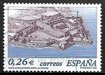 Stamps Spain -  Castillo de San Felipe, Ferrol (La Coruña)