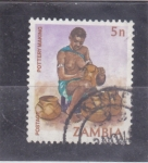 Stamps : Africa : Zambia :  ARTE POPULAR