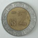 monedas de America - México -  1994 N$ 2