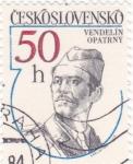 Stamps of the world : Czechoslovakia :  VENDELÍN OPATRNÝ- HEROE DE GUERRA