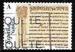 Sellos de Europa - España -  El románico aragonés - Folio de la Biblia de Huesca