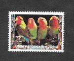 Sellos de Asia - Emiratos Árabes Unidos -  Mi1404A - Aves