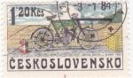 Stamps : Europe : Czechoslovakia :  MOTOCICLETA- ORION MICHE