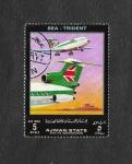 Stamps : Asia : United_Arab_Emirates :  Mi H1544 - Líneas Aereas y Avión