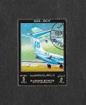 Sellos de Asia - Emiratos Árabes Unidos -  Mi1544 - Líneas Aereas y Avión