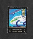 Stamps : Asia : United_Arab_Emirates :  Mi1543 - Líneas Aereas y Avión