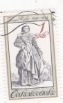 Sellos de Europa - Checoslovaquia -  dibujo de Jacques Callot-gravador dibujante