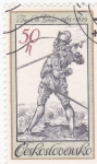 Sellos de Europa - Checoslovaquia -  dibujo de Jacob  de Ghegn