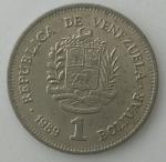 monedas de America - Venezuela -  1989 - 1 bolivar