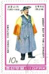 Stamps North Korea -  Trajes nacionales de la dinastía Li