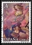 Stamps Spain -  El circo - obras de Manolo Élices