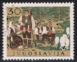 Stamps Yugoslavia -  881 - Folklore