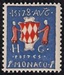 Stamps Europe - Monaco -  Escudo de armas de los Grimaldi