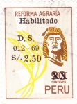 Stamps Peru -  REFORMA AGRARIA