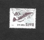 Sellos de Asia - Corea del norte -  2954 - Pez