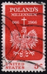 Sellos de America - Estados Unidos -  INT- POLAND'S MILLENNIUM (966-1966)