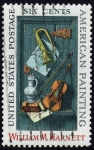 Stamps United States -  INT-WILLIAM M.HARNETT-AMERICAN PAINTING