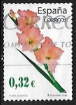 Stamps of the world : Spain :  Flora y Fauna - Gladiolo