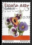 Stamps of the world : Spain :  Flora y Fauna - Pensamiento