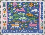 Stamps : Europe : Romania :  Alfombras campesinas rumanas