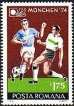 Stamps Romania -   Football
