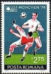 Stamps Romania -  Football