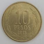 monedas del Mundo : America : Chile :  2015 - 10 pesos