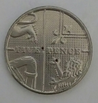 monedas del Mundo : Europa : Reino_Unido :  2014 - five pence