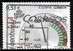 Stamps : Europe : Spain :  Valores cívicos - Respete la velocidad
