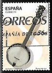 Stamps : Europe : Spain :  Instrumentos musicales - Banjo
