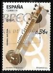 Stamps : Europe : Spain :  Instrumentos musicales - Sitar